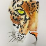 Watercolor leopard